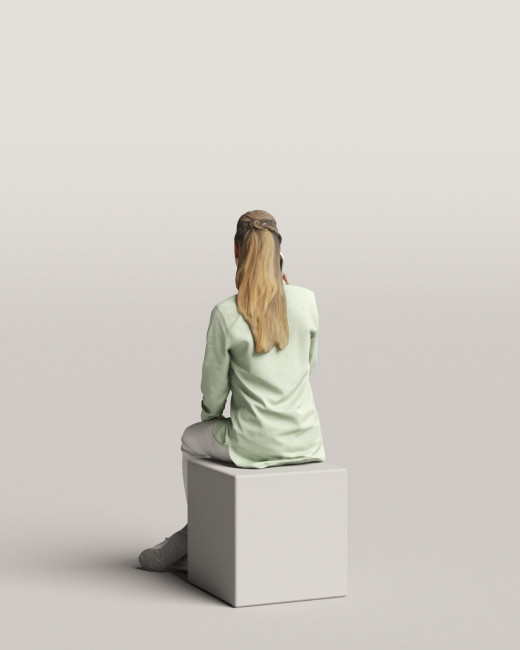3D people - Sitting woman vol.06/05
