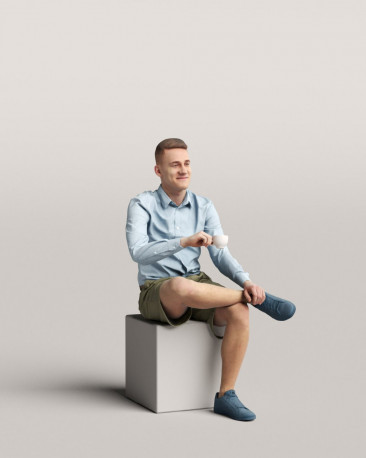 3D people - Sitting man vol.06/06