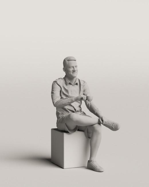 3D people - Sitting man vol.06/06