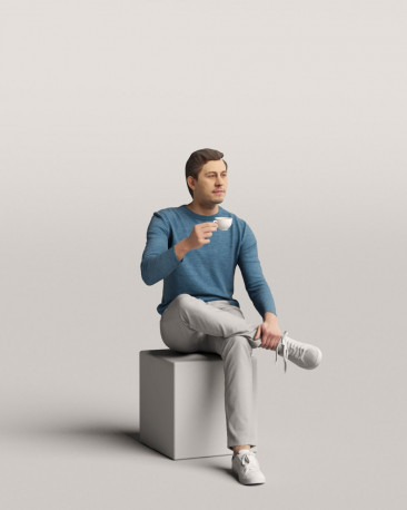 3D people - Sitting man vol.06/07