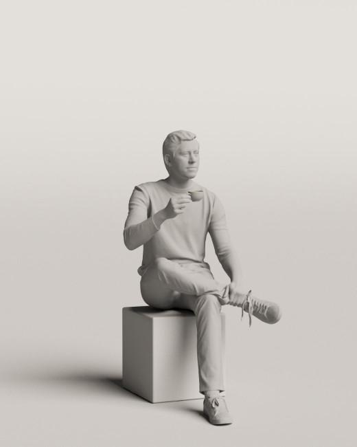 3D people - Sitting man vol.06/07