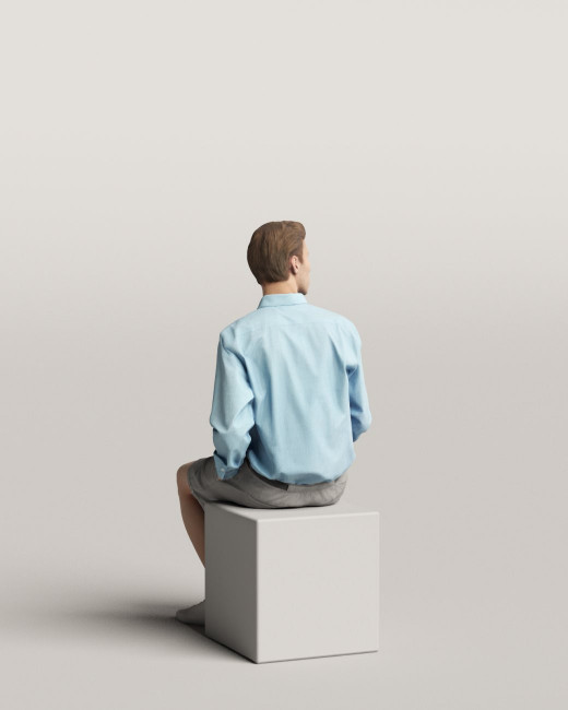 3D people - Sitting man vol.06/09