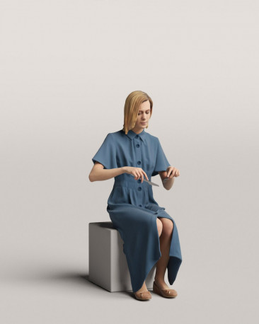 3D people - Sitting woman vol.06/12