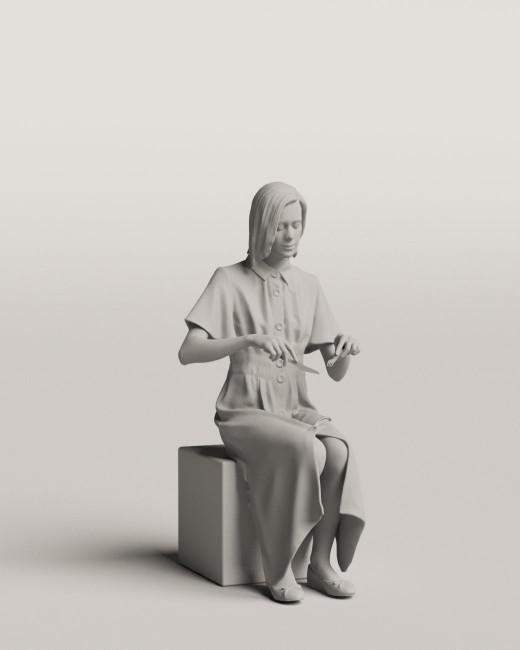 3D people - Sitting woman vol.06/12