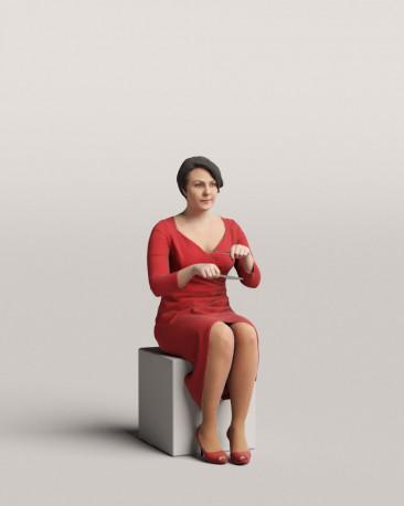 3D people - Sitting woman vol.06/13