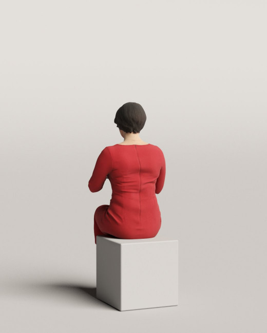 3D people - Sitting woman vol.06/13