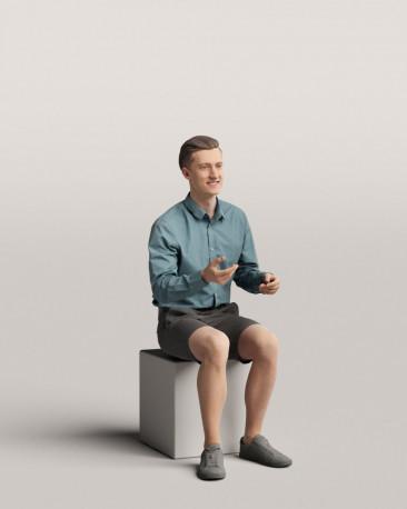 3D people - Sitting man vol.06/16