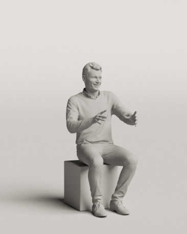 3D people - Sitting man vol.06/17