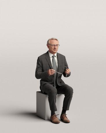3D people - Sitting man vol.06/18