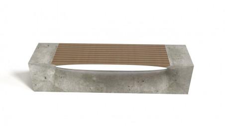 Bench - concrete & wood