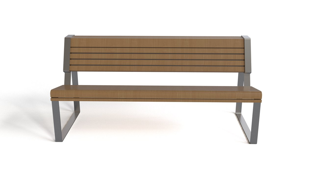 Bench - wood and steel
