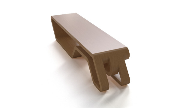 Wooden designer bench