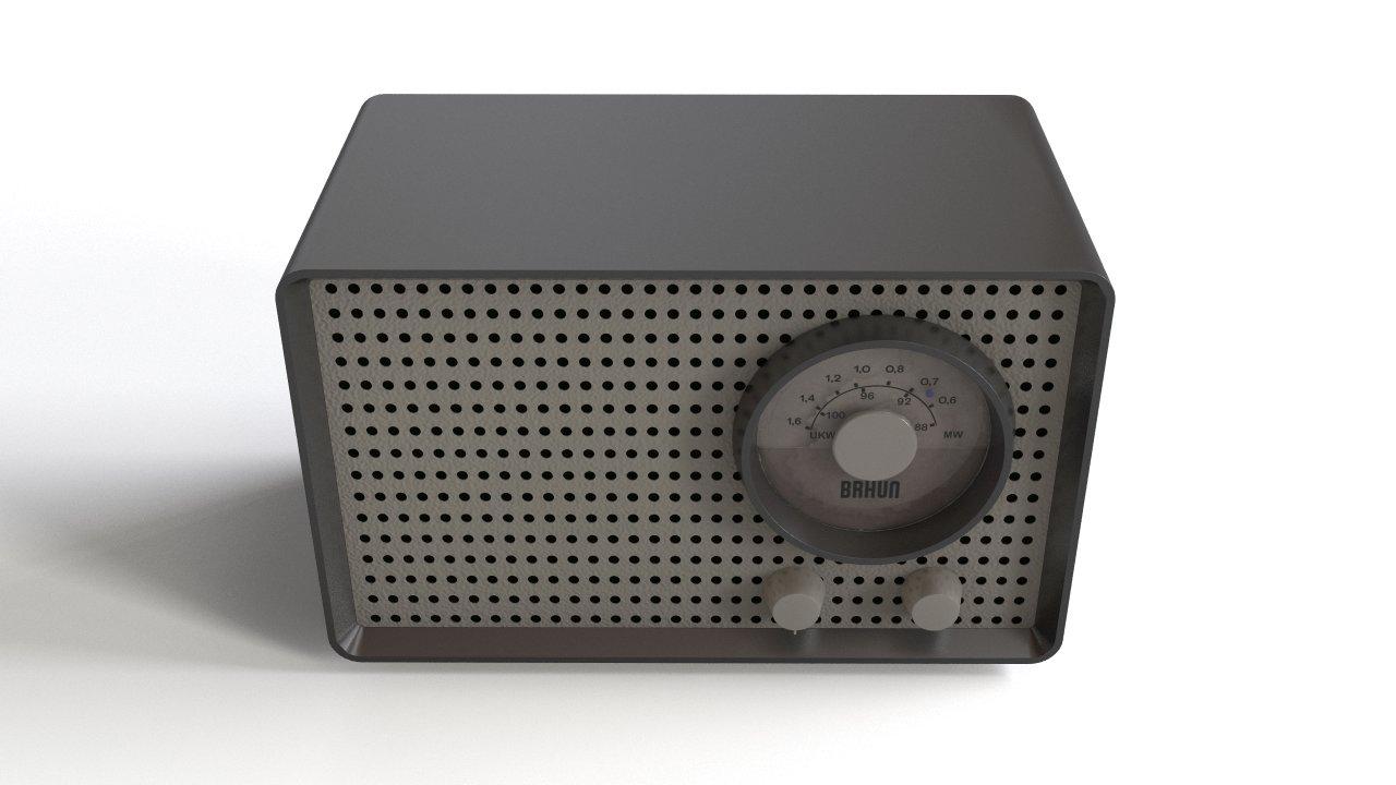 Braun SK2 Radio - Retro Tube Radio from Braun Design - 1952