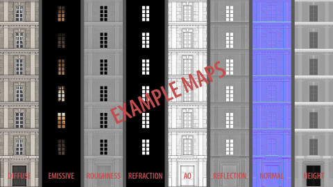 Neoclassical facade - A03