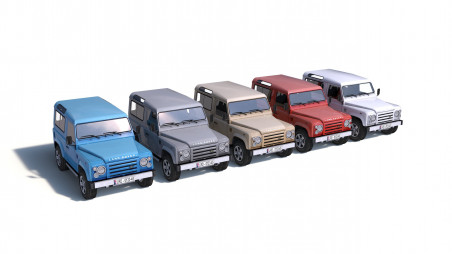 City cars models - collection E