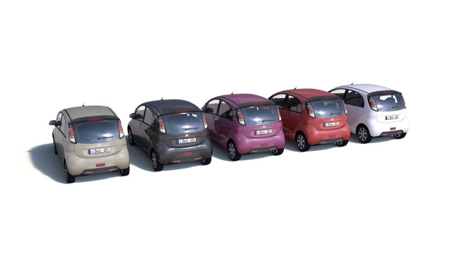 City cars models - collection F