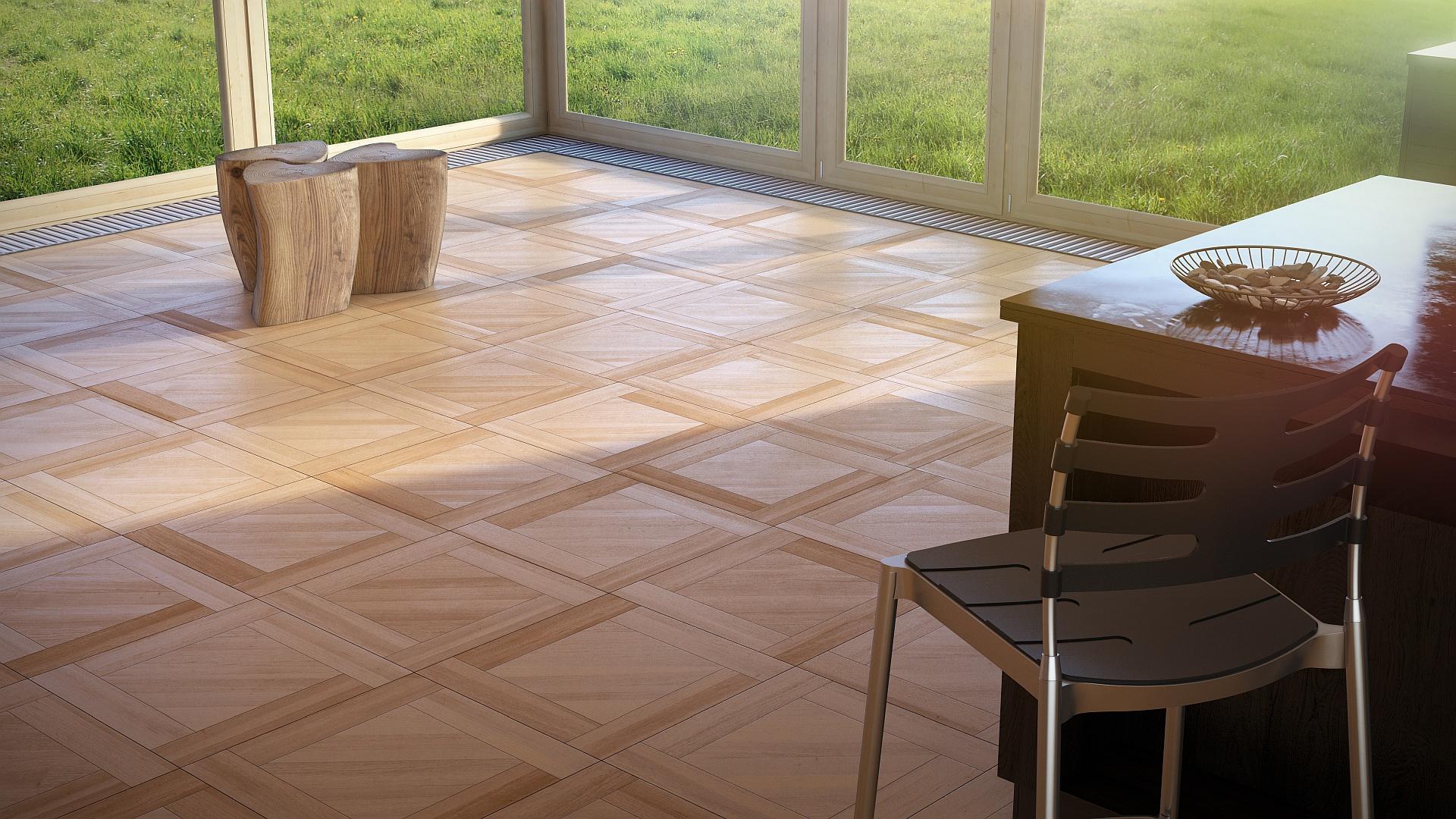 White Afara - refurbished parquet floor