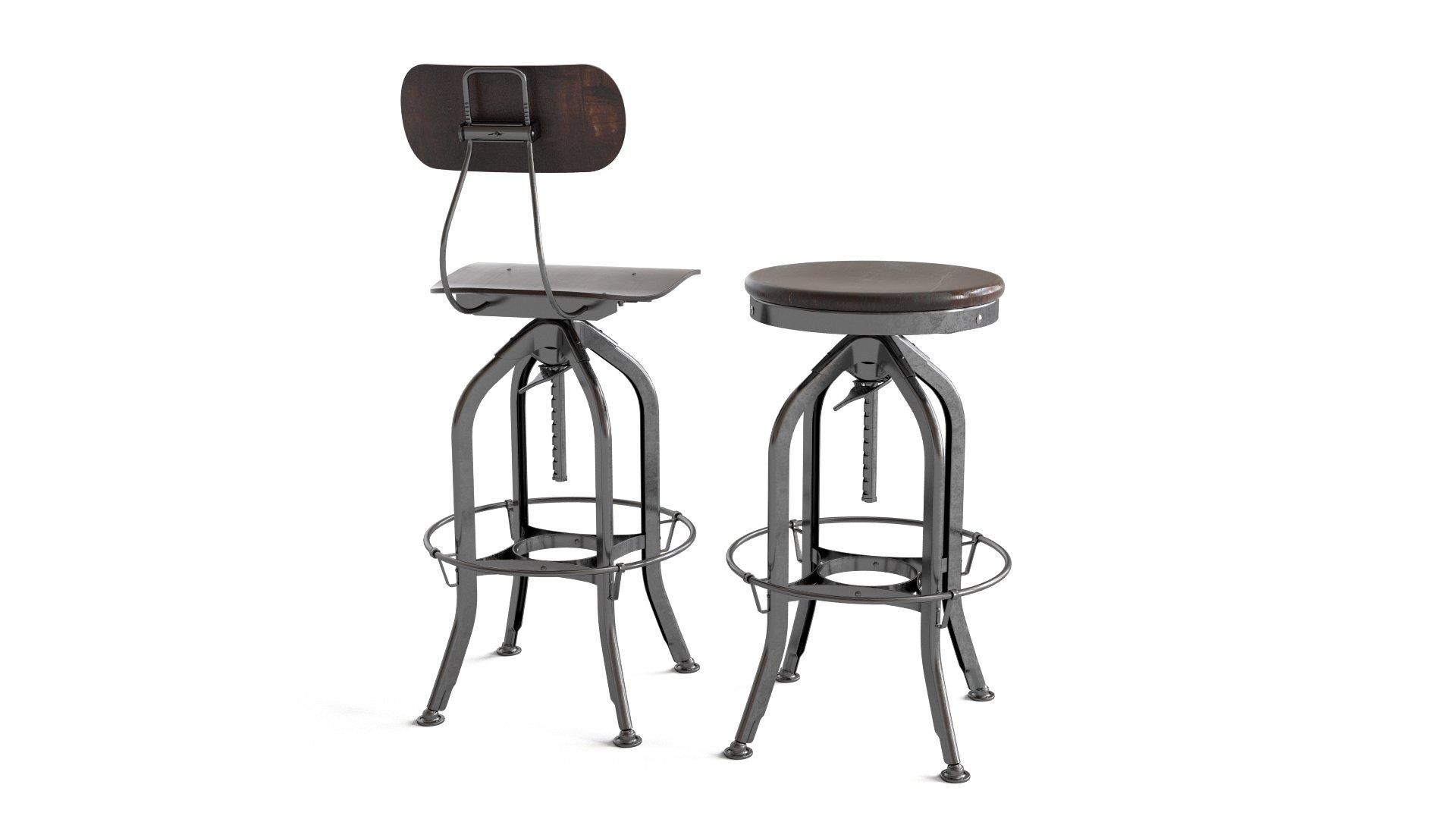 Superbe RH Vintage Toledo Bar Chair