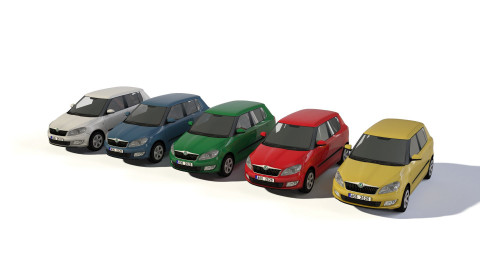City cars models - collection Skoda