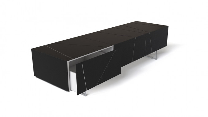 Black TV table