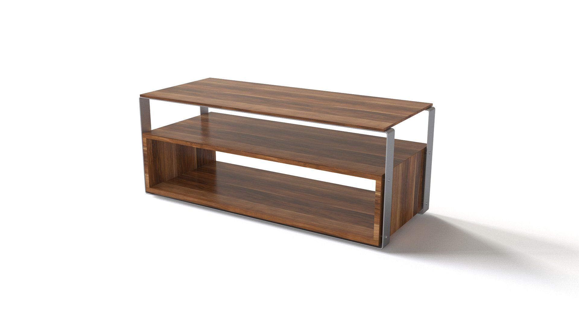 Merveilleux Wooden TV Table With An Extra Shelf