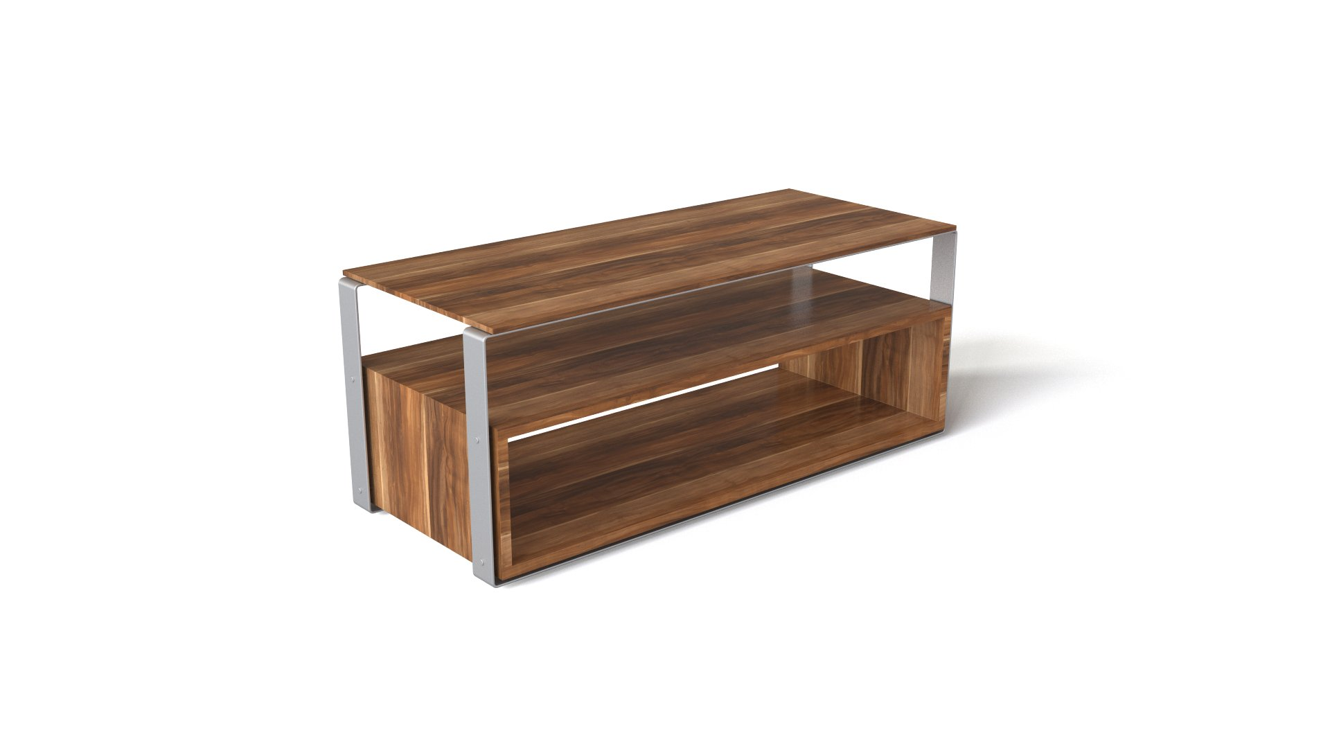 Wooden TV Table With An Extra Shelf