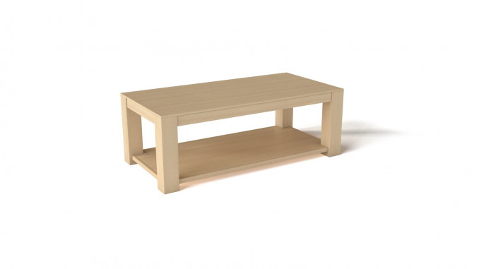 Simple, light wood TV table