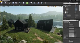 Realtime walkthrough: Lake Cabin progress