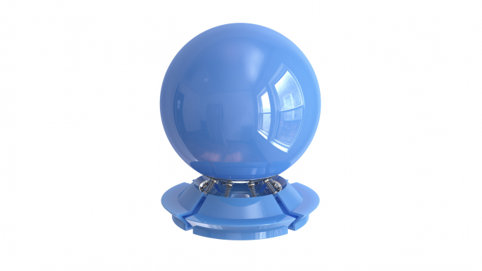 Shiny blue plastic