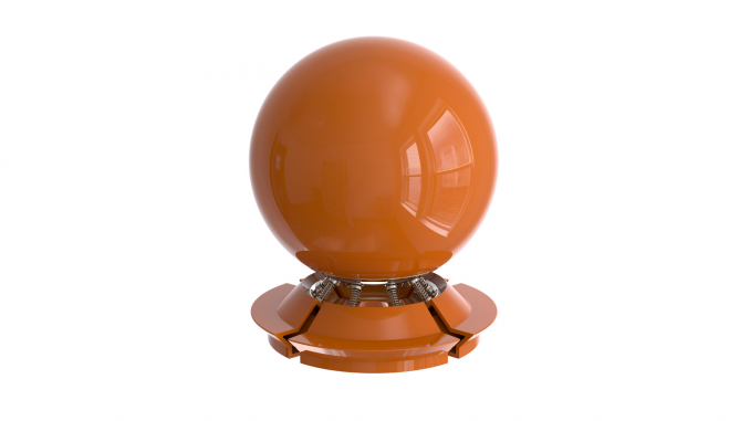 Dark orannge shiny plastic