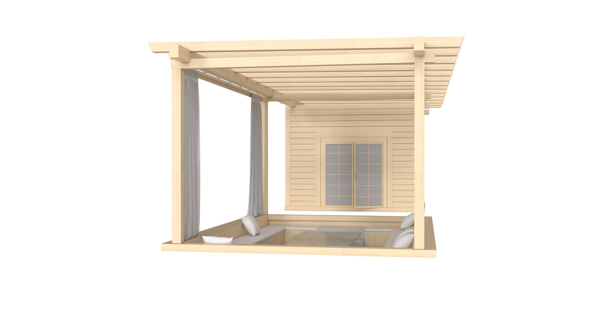 Wooden Garden Shelter