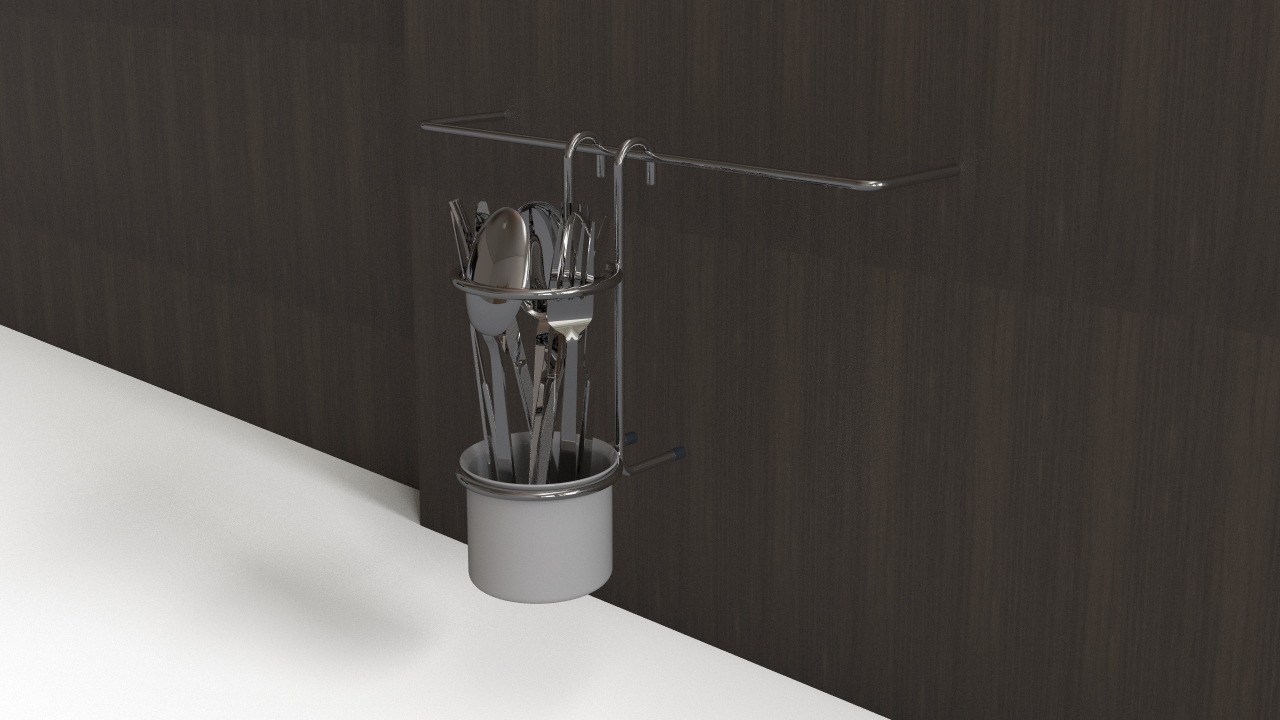Cutlery with holder