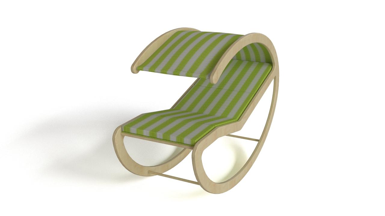 Patio rocking bed
