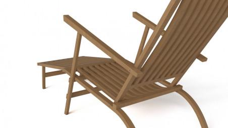 Patio deck chair