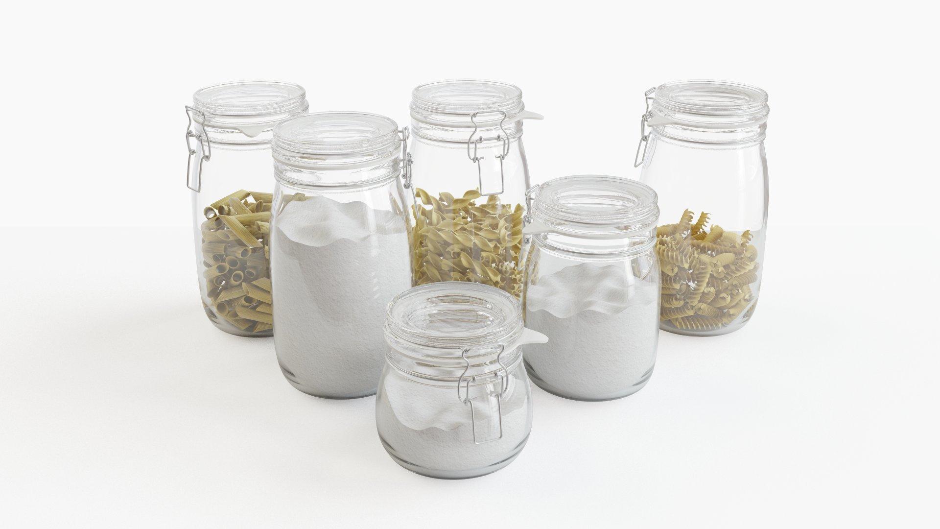 Pasta and Flour in IKEA Korken jar