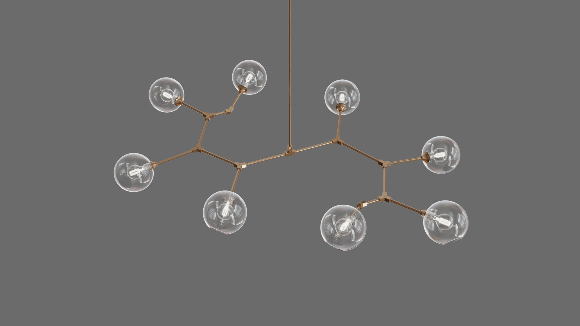 Branching Bubble chandelier