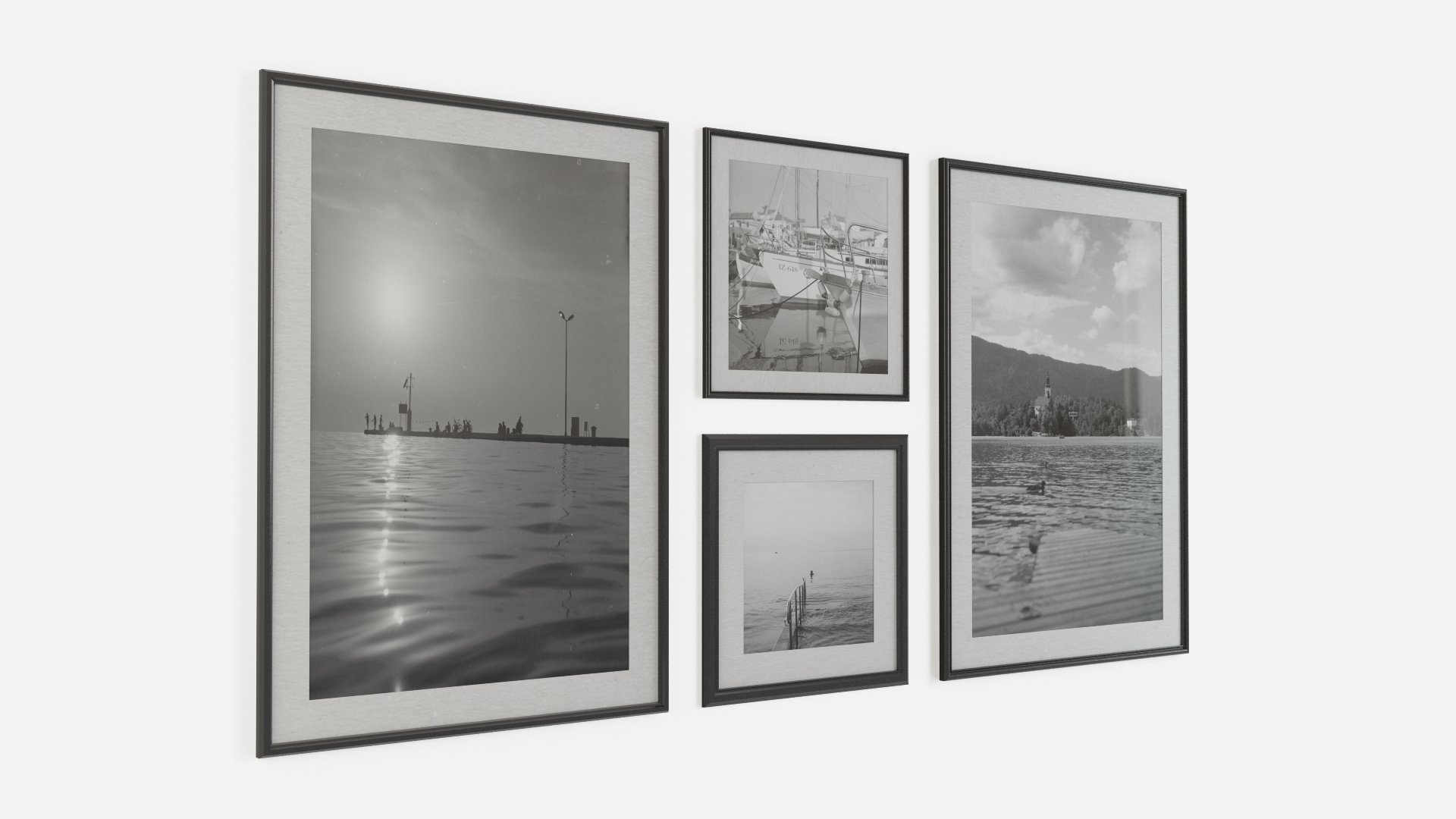 Black and white wall pictures