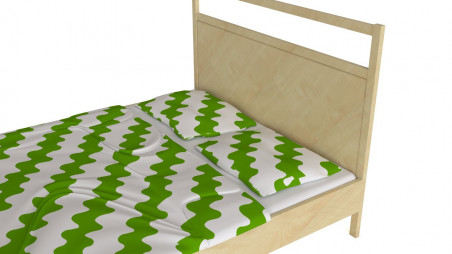 Double bed - wooden