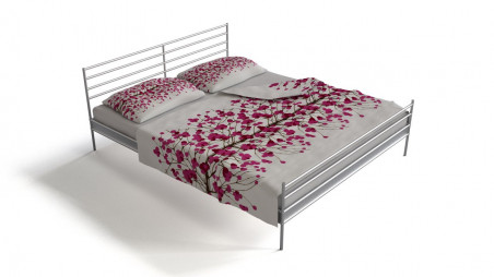 Double bed - chrome frame
