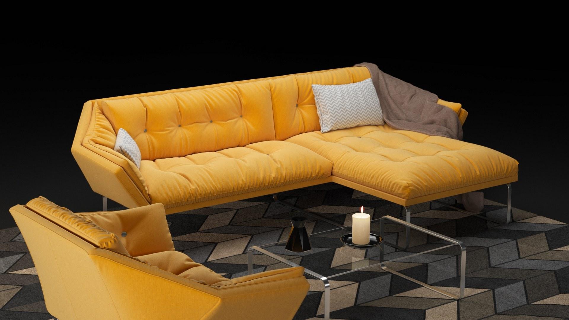 New York corner sofa and armchair