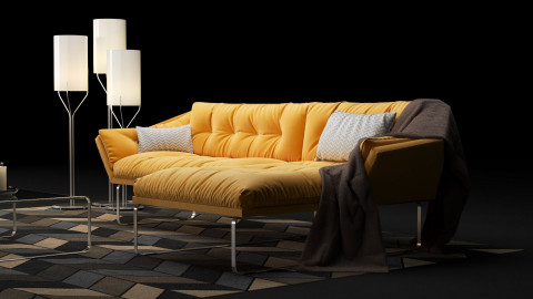New York corner sofa and armchair