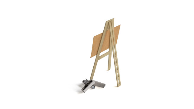 Wooden drawing stand