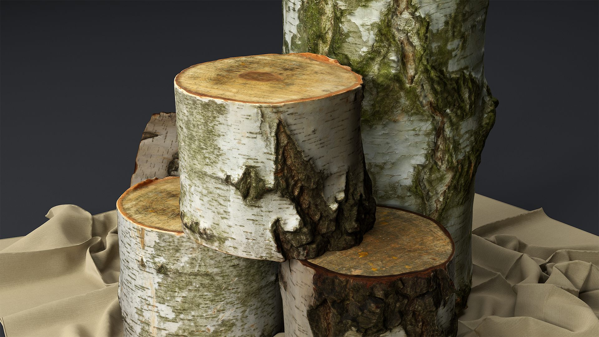 Decorative Birch logs