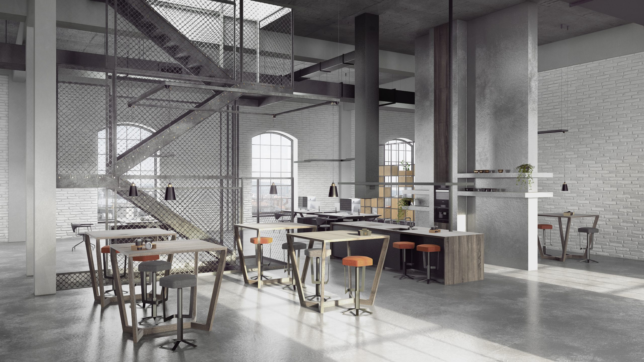 Open office interior