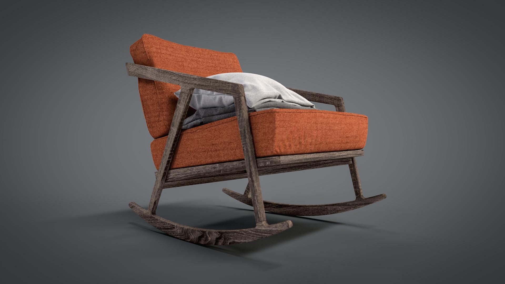 Katakana rocking chair