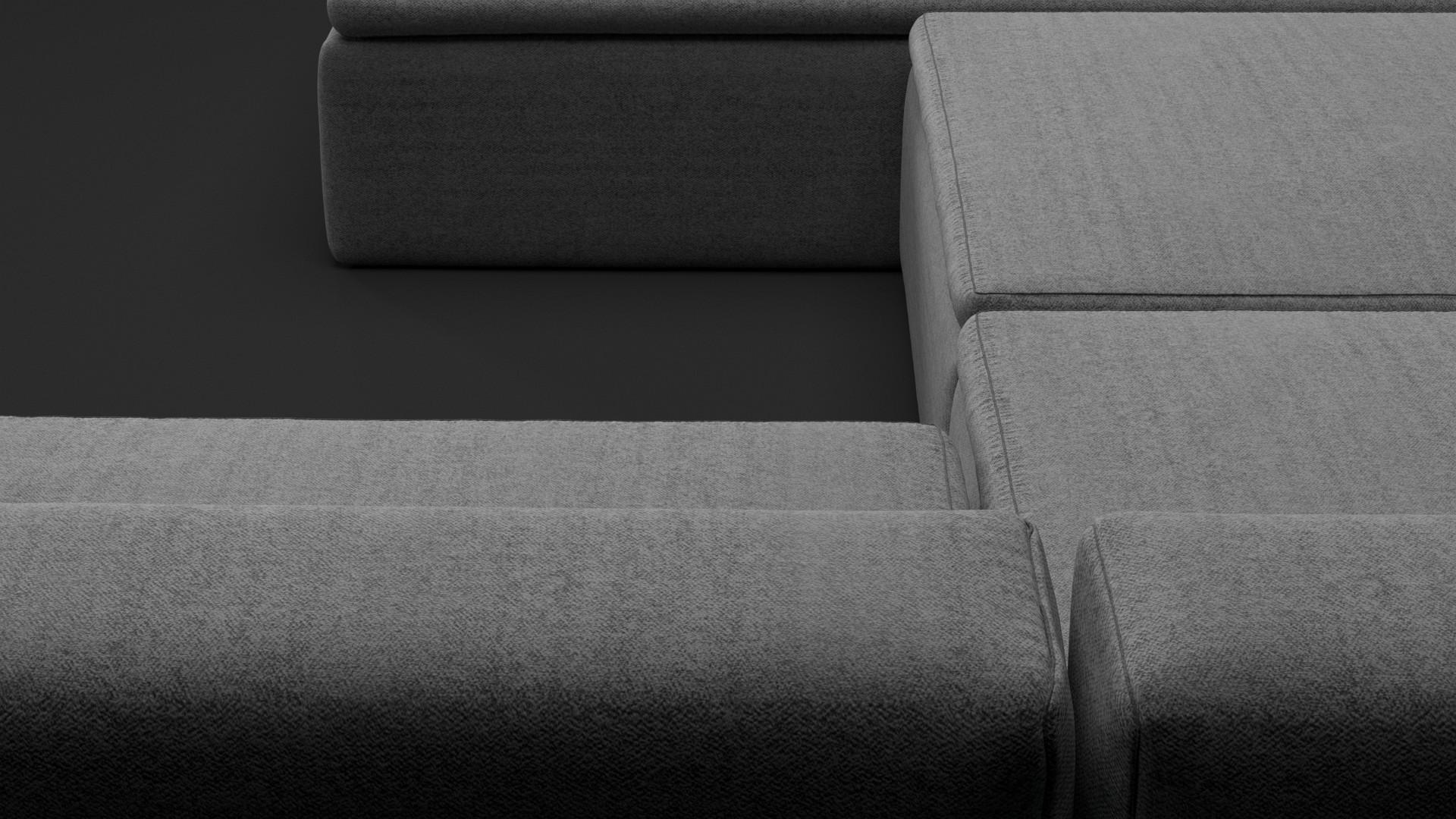 Modular grey sofa