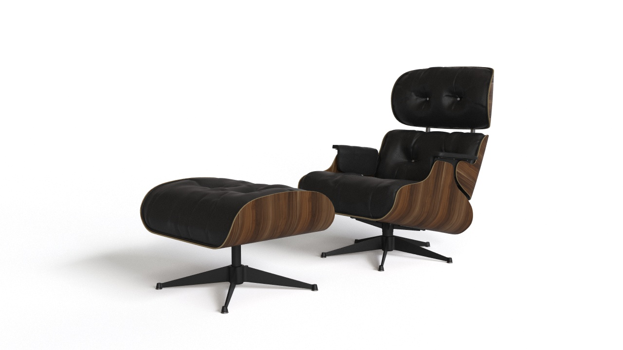 Eames Lounge Chair with ottoman | FlyingArchitecture