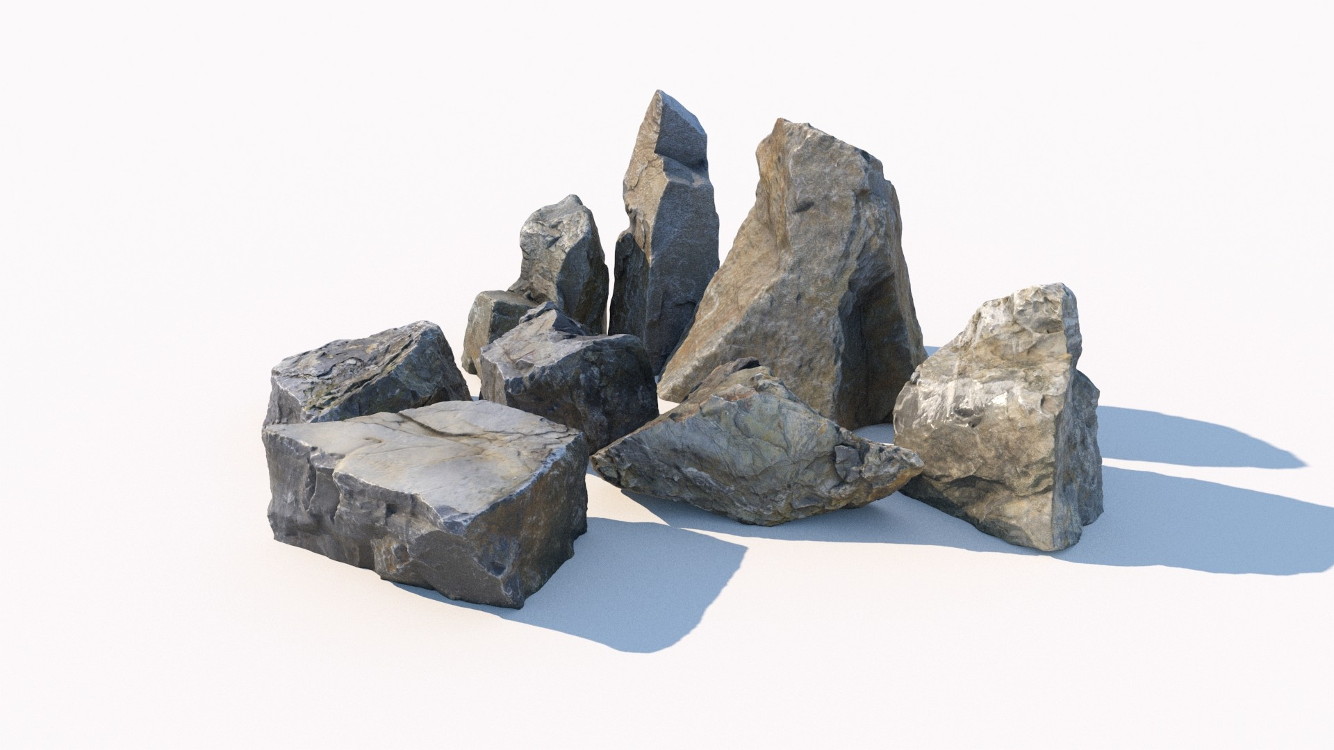Scanned stones collection