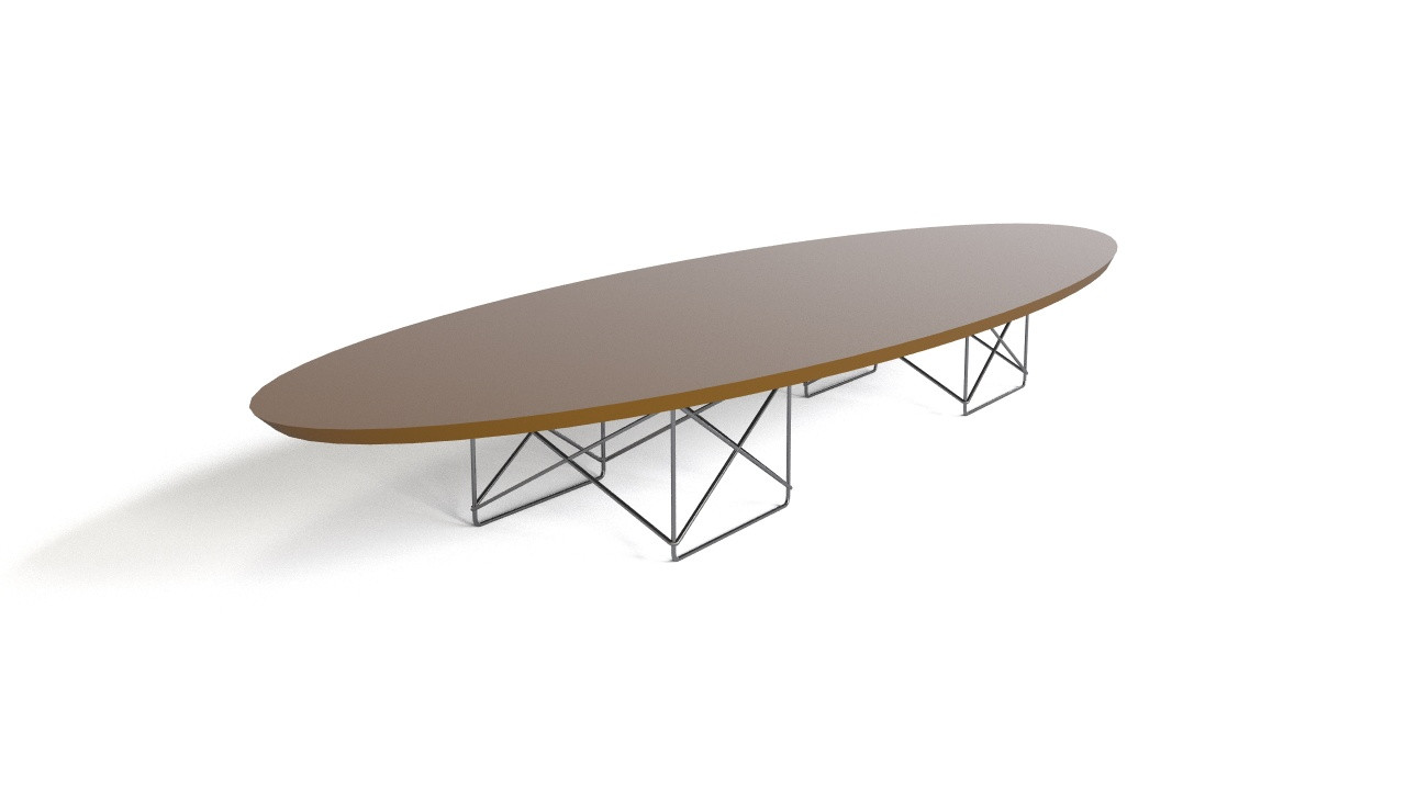 Gentil Eames   Elliptical Table ETR   1951