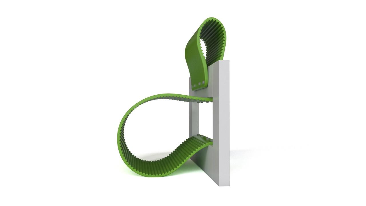ECOWAVE bench free 3D model